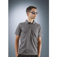 Rotwild Allover Check Polo grau