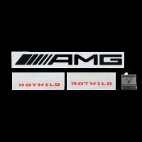 AMG ROTWILD REPLICA DEKOR AUFKLEBERSET INKL. METALLPLAKETTE